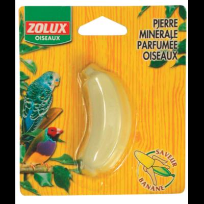 Pierre minérale oiseau banane