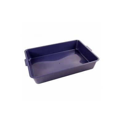 Bac à litière sans rebord bleu