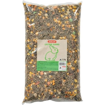 Zolux-Alimentation pour Lapin Nain Coussin 3kg