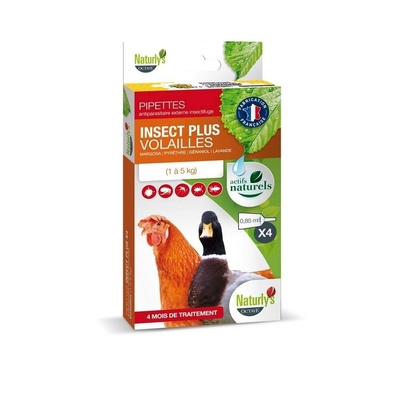 Naturlys Antiparasitaire Volailles 4 pipettes