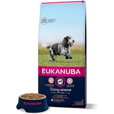 Eukanuba Croquettes pour Chien Senior Medium  Poulet