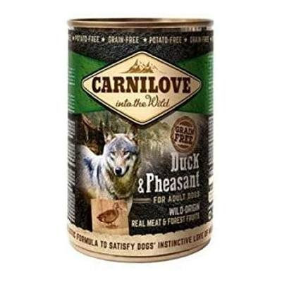 Carnilove Boite pour chien Adult Canard et Faisan 400 gr