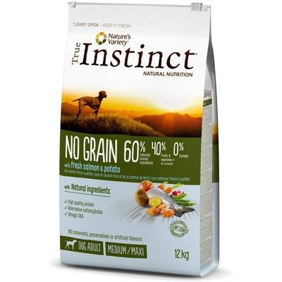 Croquettes True Instinct Chien - No Grain Medium Junior Saumon