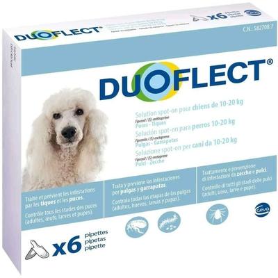 Duoflect - 3 Pipettes Antiparasitaire pour chien de 10 … 20Kg