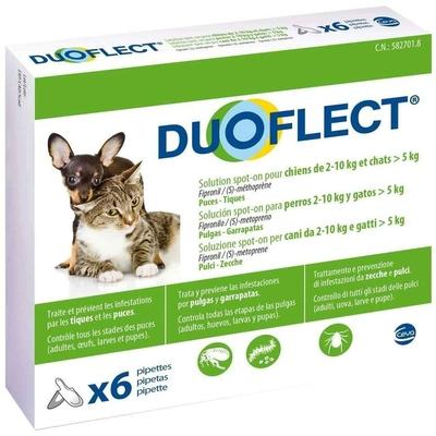 Duoflect - 6 Pipettes Antiparasitaire  pour chien de 2 … 10Kg et Chat de 5kg