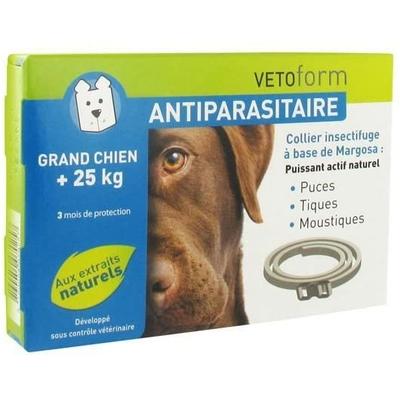 VETOFORM Collier Insectifuge pour Grand Chien + 25 kg