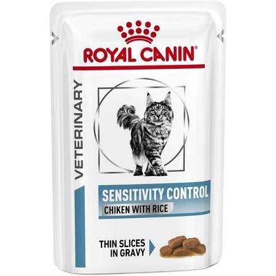 Royal Canin Veterinary diet cat sensitivity poulet - 12 Sachets x 85g