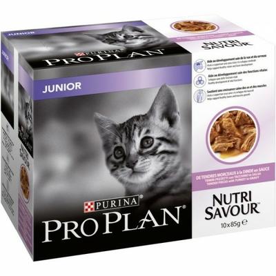 Purina Proplan Sachet Nutrisavour Chat Junior-Dinde-10x85g