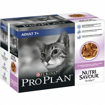 Purina ProPlan - Sachet NutriSavour Adult 7+ - Dinde 10x85 gr