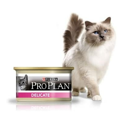 Purina ProPlan Chat Adulte Delicate Dinde - 18X85g + Gratuit