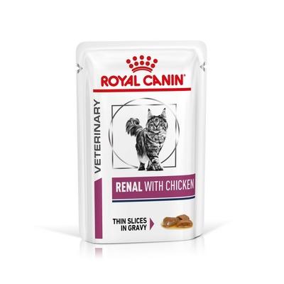 ROYAL CANIN Veterinary Diet - Renal Poulet  - 12 Sachets de 85g
