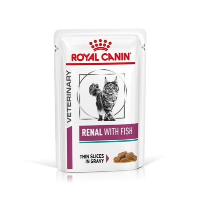Royal Canin Veterinary diet cat renal poisson - Sachets 12x85g