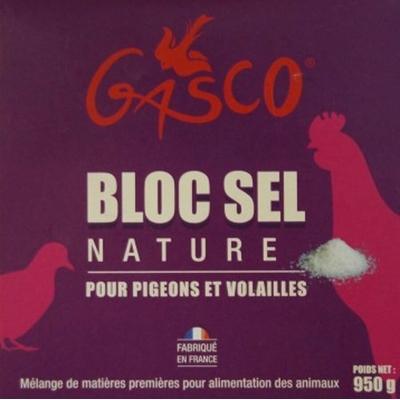 GASCO - Bloc sel nature pour poules