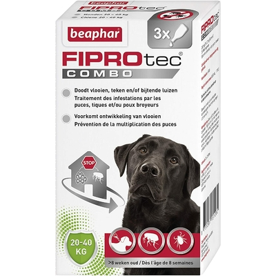 Beaphar - FIPROtec - Pipettes antiparasitaires - pour grand chien (20-40kg)