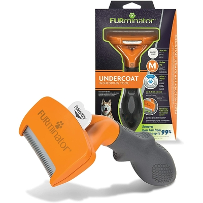 Furminator Brosse Anti-Mue pour Chien Taille Moyenne Poils courts