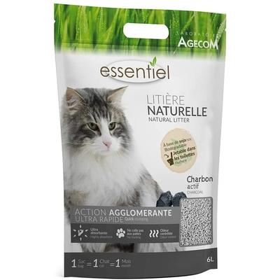 Essentiel - Litière Naturelle Charbon 6L