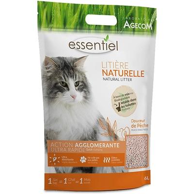 Essentiel - Litière Naturelle Soja Pêche 6L