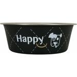 Gamelle inox Happy noir noszanimos