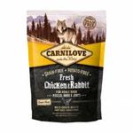 Carnilove FRESH Chicken & Rabbit pour Chien Adulte 1,5KG noszanimos