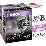 PRO PLAN Chat Nutrisavour Junior - A la Dinde - Pochons pour chaton 10 x 85 g - Lot de 4 NosZanimos