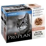 Purina Proplan Sachets pour Chat Nutrisavour Housecat Saumon 24x85g noszanimos