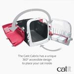 Catit – Cage de Transport Cabrio pour Chat, Rouge Cerise A