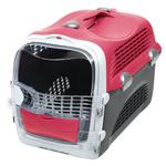 Catit – Cage de Transport Cabrio pour Chat, Rouge Cerise 2