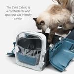 Catit – Cage de Transport Cabrio pour Chat, Bleu Gris a