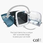 Catit – Cage de Transport Cabrio pour Chat, Bleu Gris b