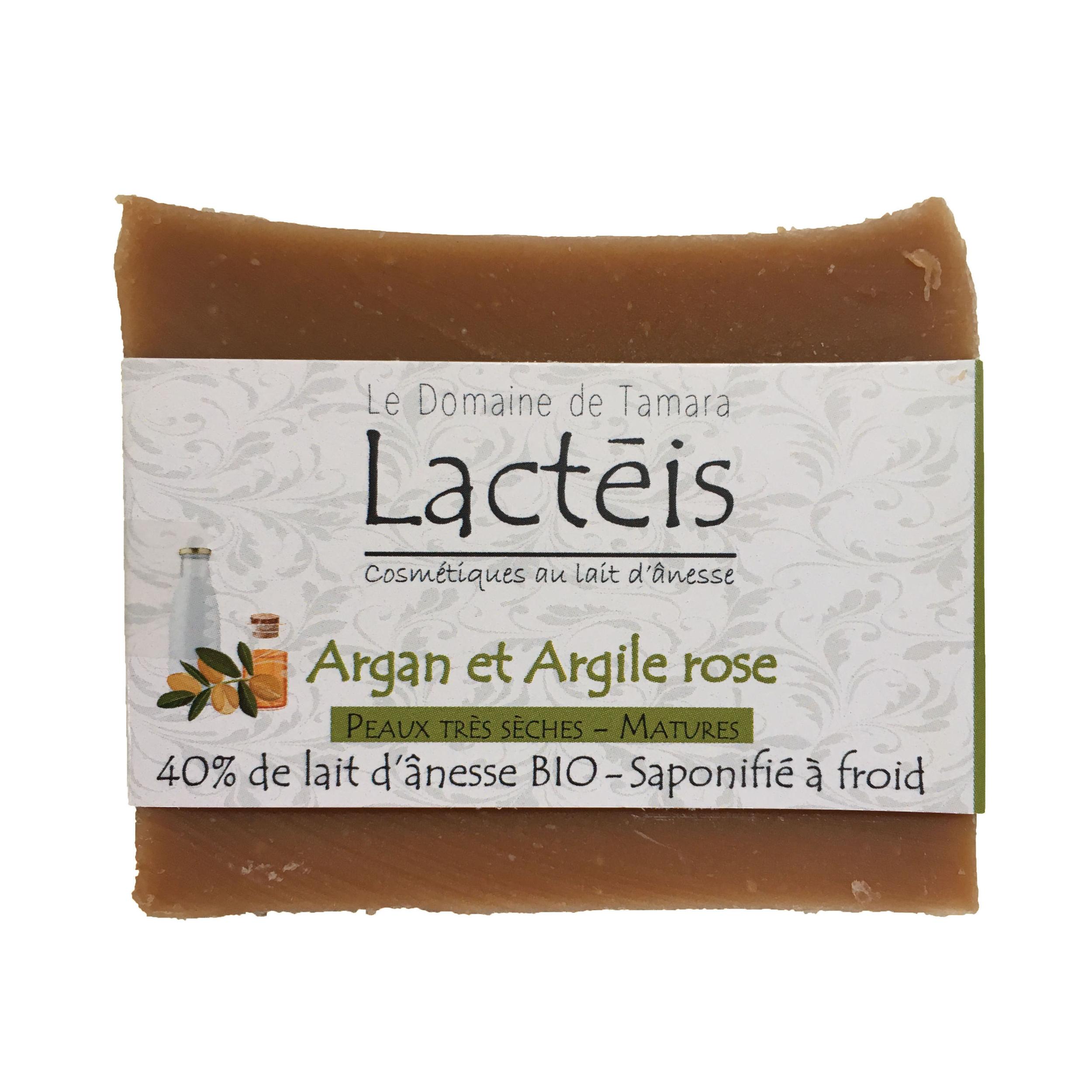 40% de lait d'ânesse frais et BIO - Argan et Argile rose