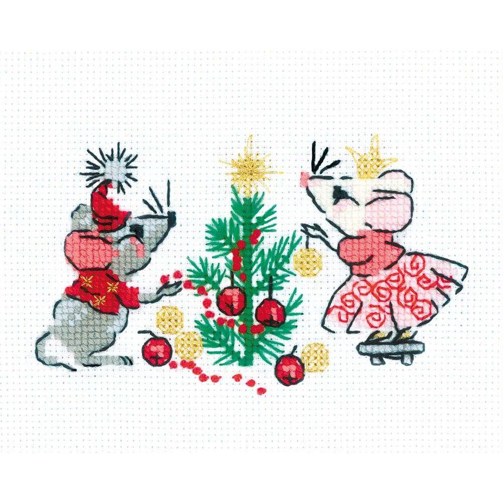 8,5 cm x débutant 8 cm Souris Cross Stitch Kit-Luca S