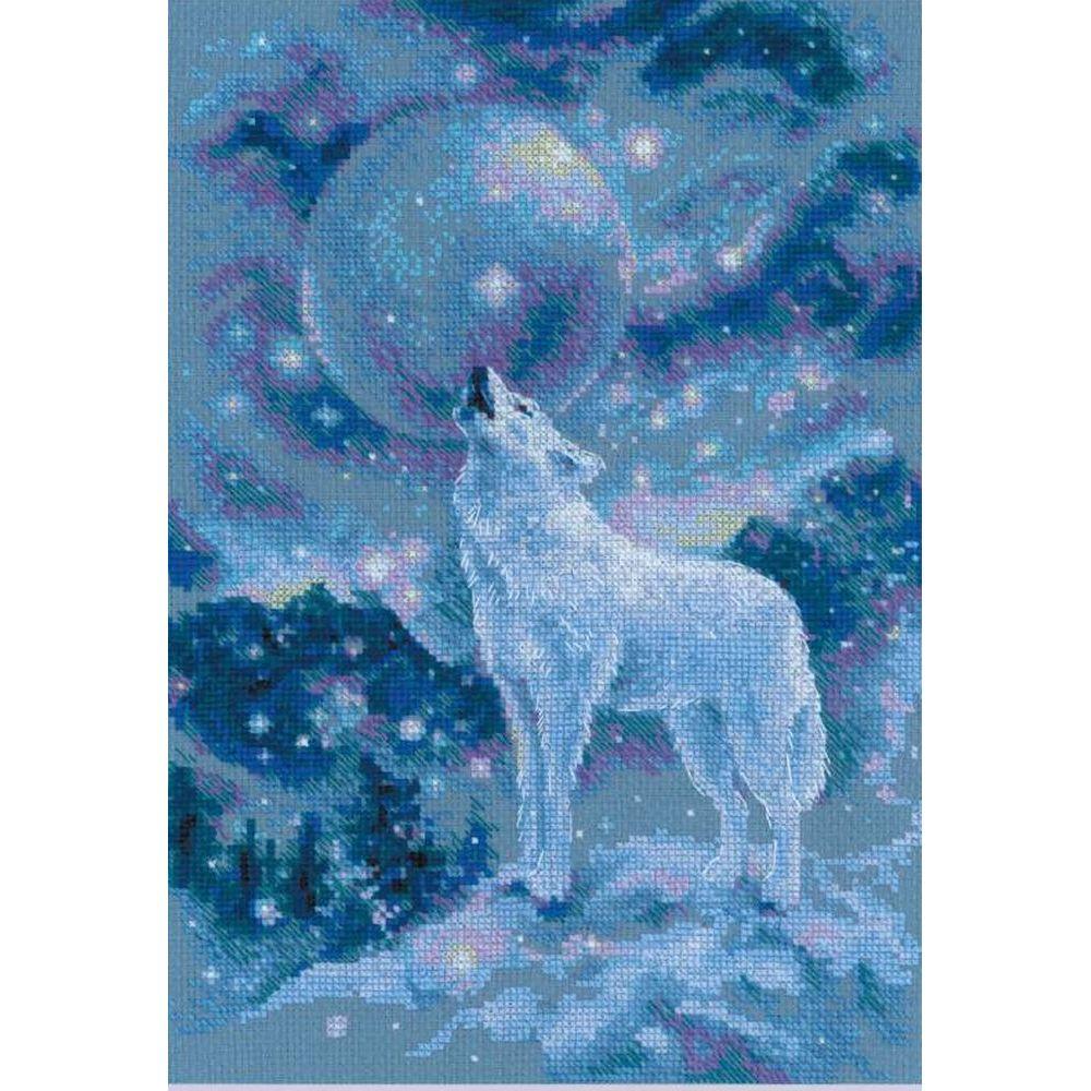 Loup au clair de lune 1875 Riolis