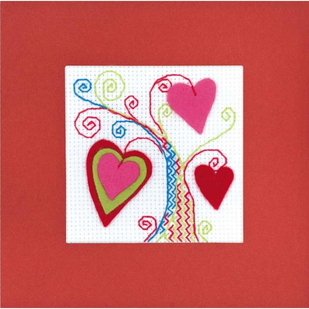 Carte à broder Arbre d amours - Riolis 1420AC