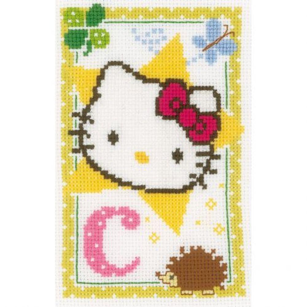 Hello Kitty  lettre C  0149006  Vervaco