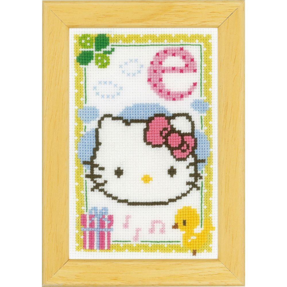 Hello Kitty lettre E  0149527 Vervaco