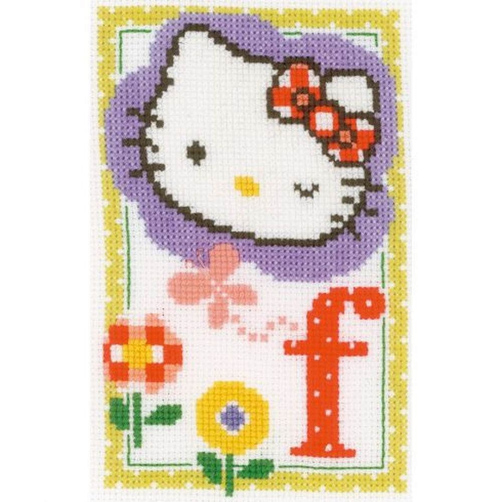 Hello Kitty lettre F  0149528 Vervaco