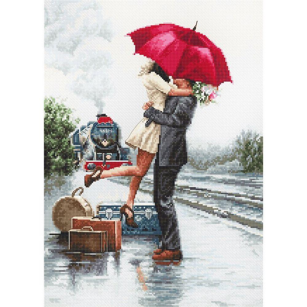 Couple sur le quai de la gare  B2369  Luca-S