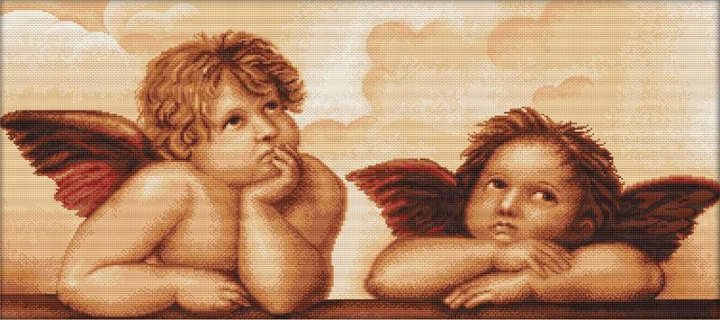 Anges de Raphaël B319 - Kit broderie de Luca-S en vente sur www.la-brodeuse.com