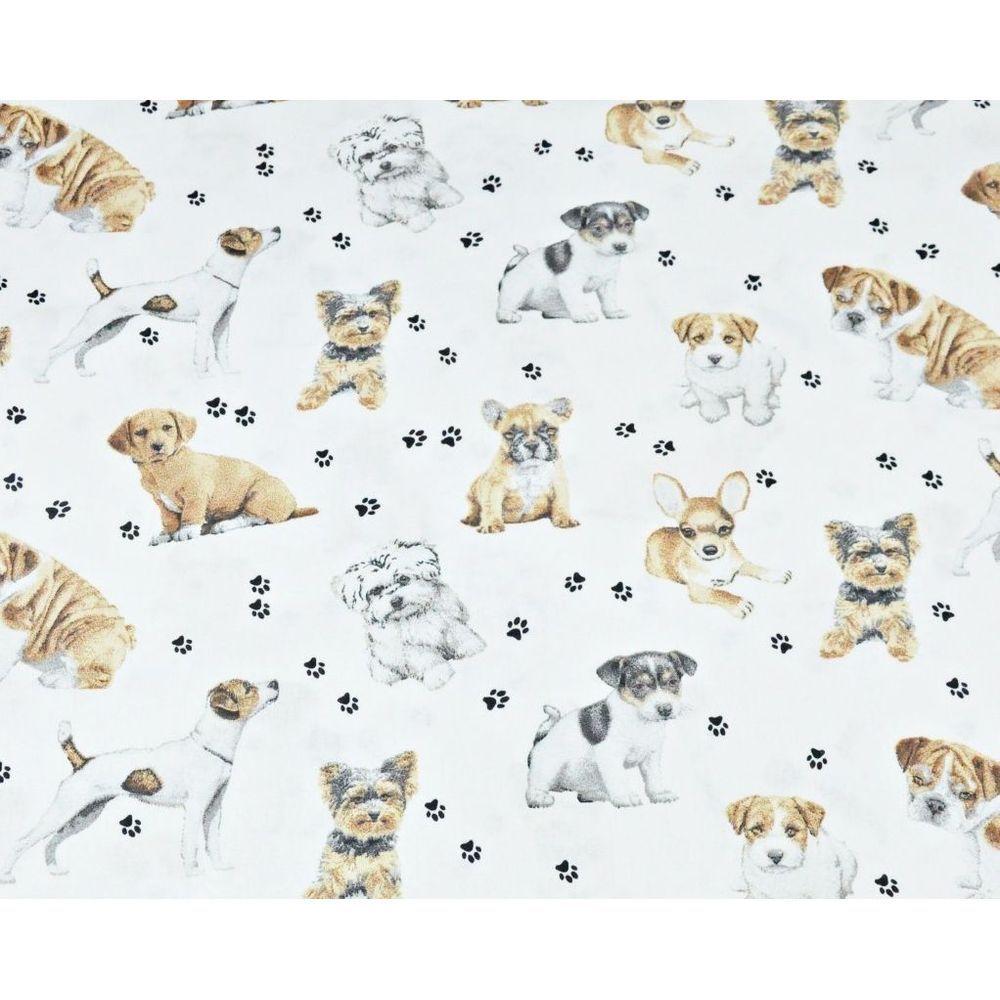 Tissu  coton imprimé Chien  00048 Oeko Tex 1