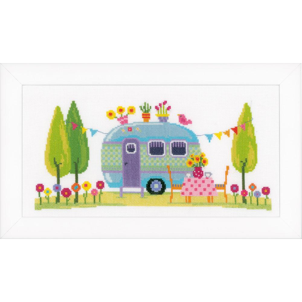 vacances en caravane vervaco pn 0154395 broderie par marque vervaco la brodeuse. Black Bedroom Furniture Sets. Home Design Ideas