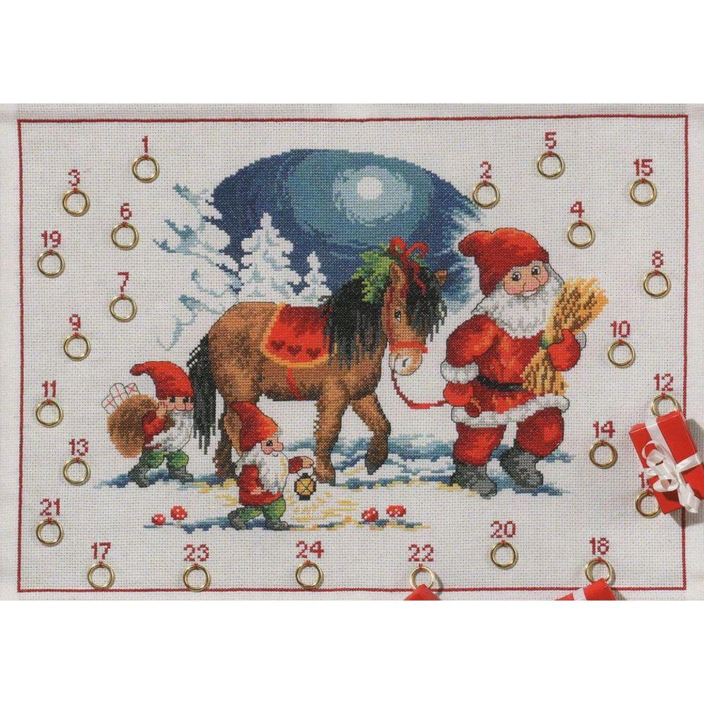 Père Noël et son cheval  34-5223  Permin