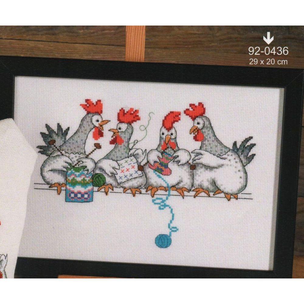 Discussion de poules  92-0436  Permin - kit Aida