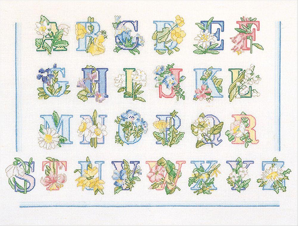 Thea Gouverneur  2089A  Floral Alphabet