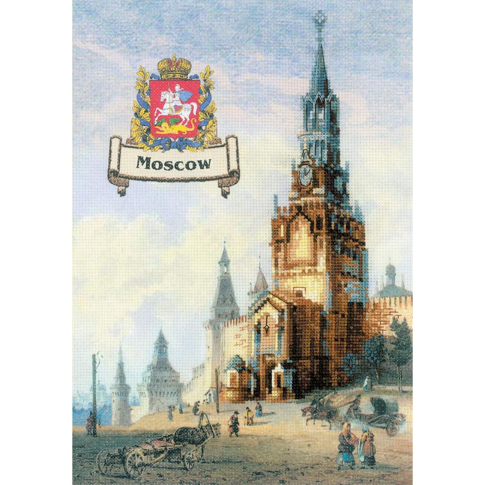 Thea Gouverneur  510  Moscou  Broderie  Point de croix compté  Lin 14 fils