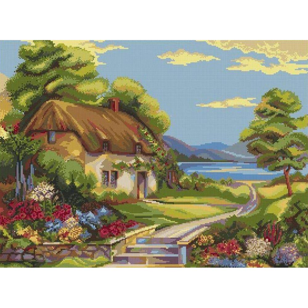 Maison fleurie 978 kits broderie par marque riolis