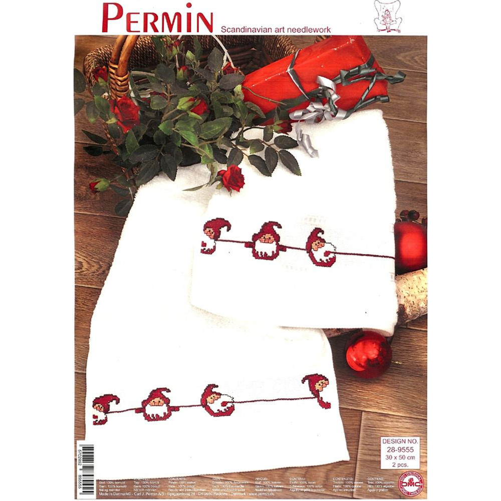 Deux serviettes de toilette Lutin  28-9555  Permin of Copenhagen