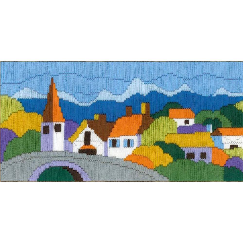 Ville dans la montagne  1630  RIOLIS