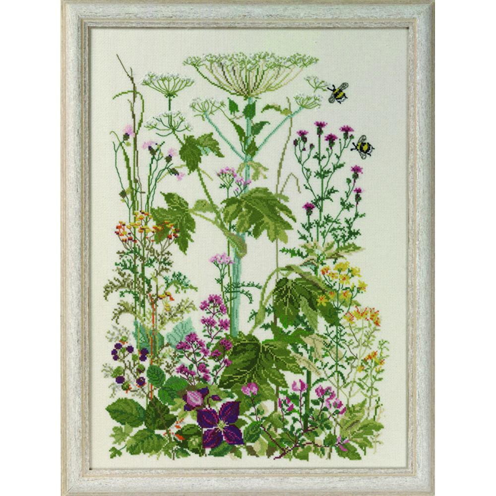 herbes sauvages permin 70 4153 kit lin la kits broderie par marque permin. Black Bedroom Furniture Sets. Home Design Ideas