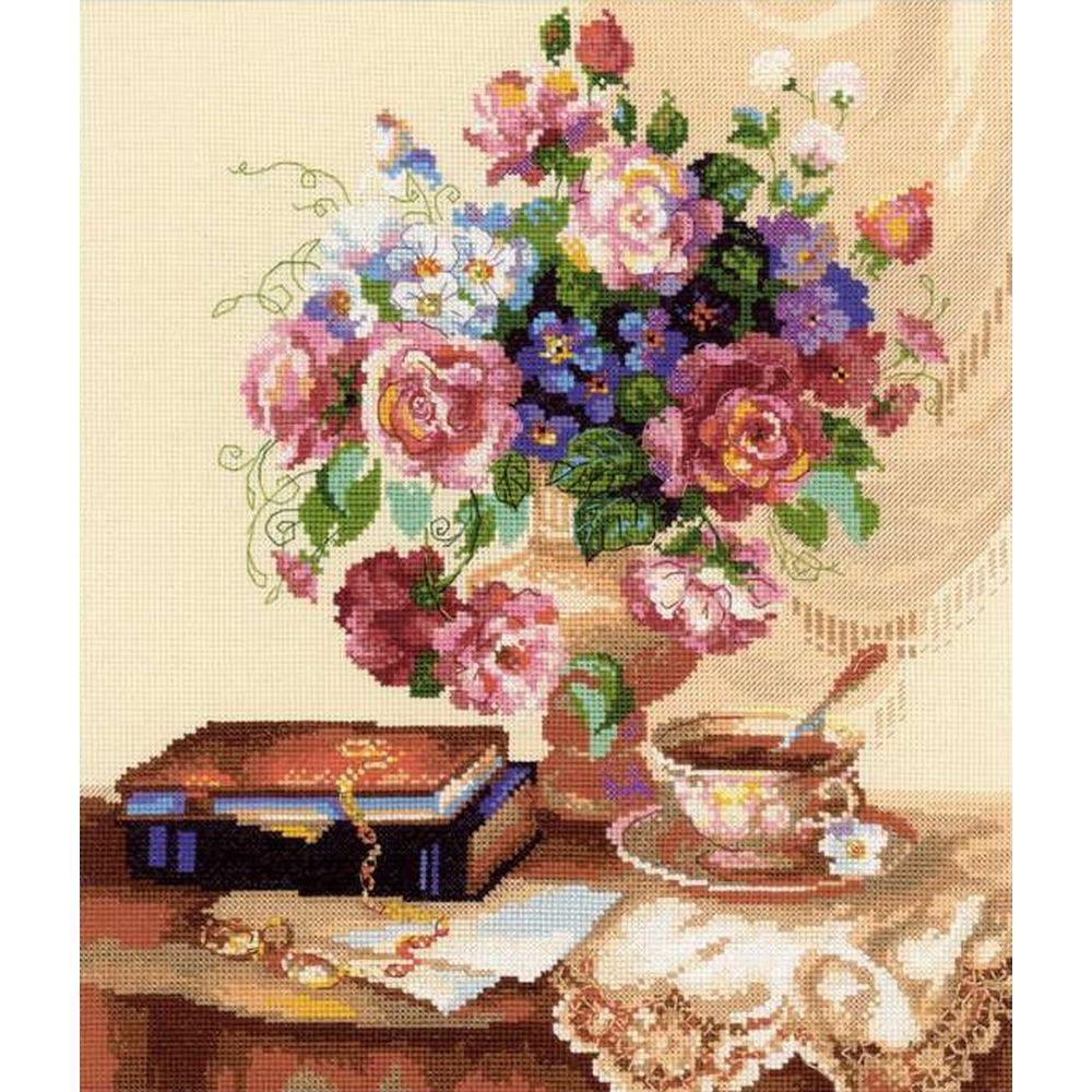 Etude avec des fleurs  1302  RIOLIS