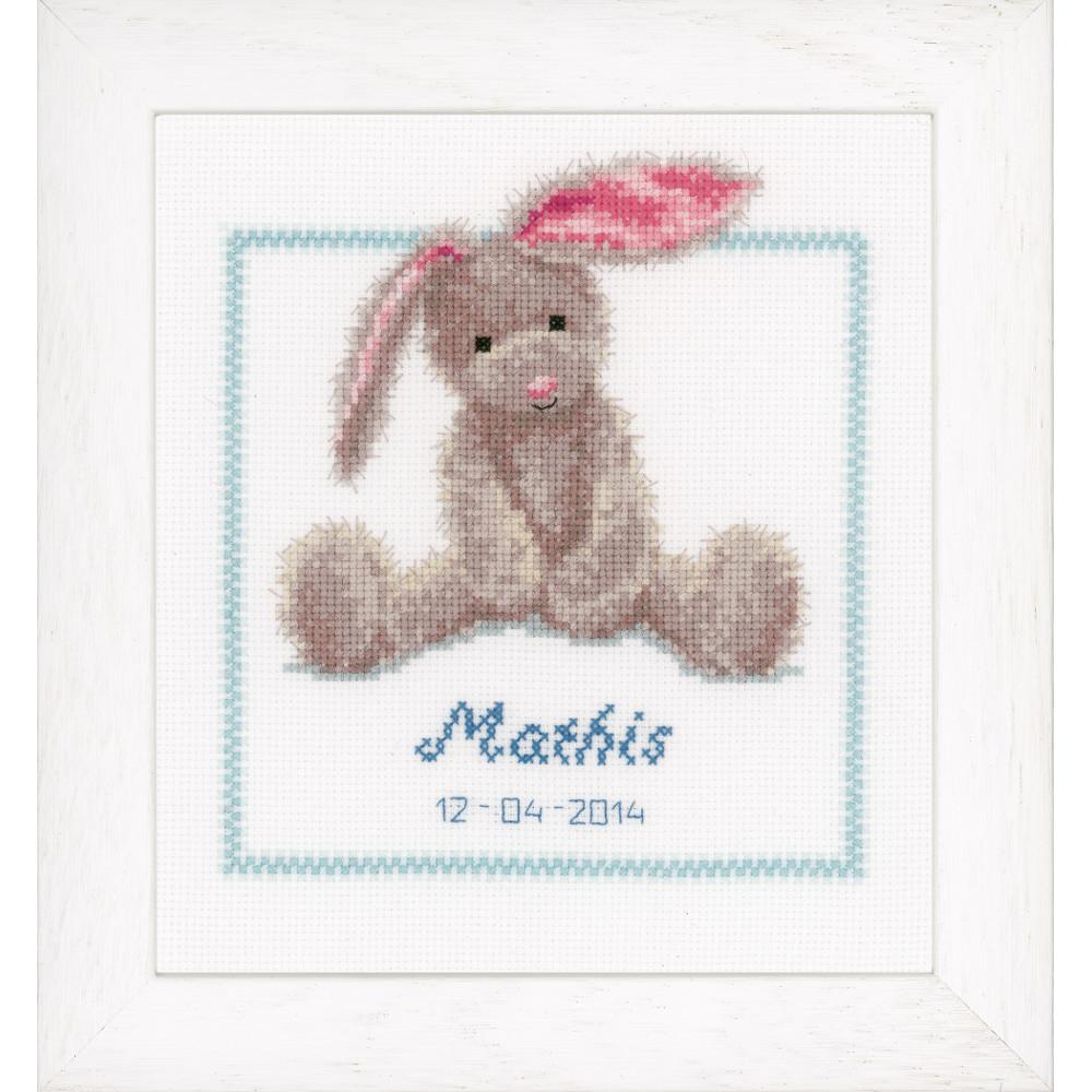 Vervaco petit lapin tableau de naissance code pn - Tableau de naissance point de croix gratuit ...
